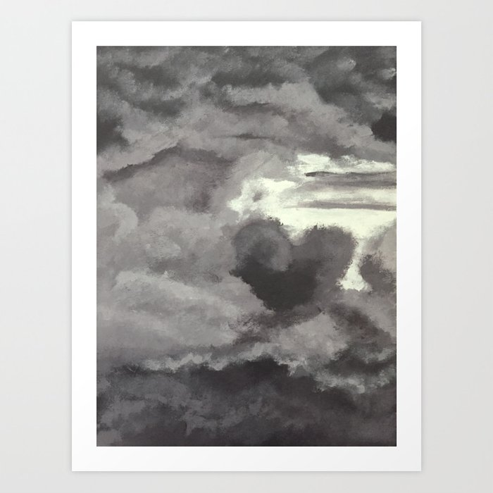 Cloud Cover Casting Shadow Art Print