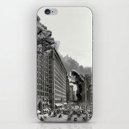 Old Time Godzilla in New York iPhone Skin