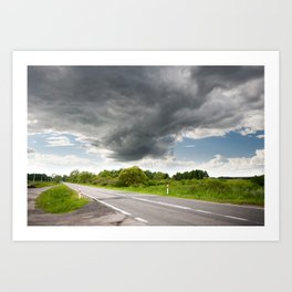Biebrza road landscape Art Print