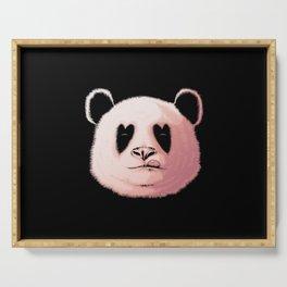 Panda in Love Serving Tray