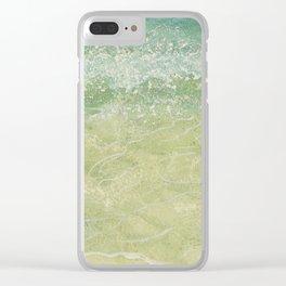 Sea Spray, Green Clear iPhone Case