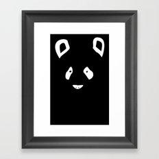 Black Panda Framed Art Print