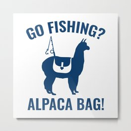 Alpaca Bag! Metal Print