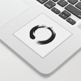 enso, enso circle, zen circle, zen enso, zen symbol, zen art, japanese circle, japanese, japanese ar Sticker