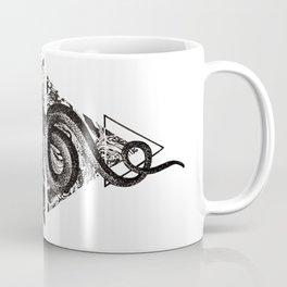 Snake Marbling and Triangles Coffee Mug