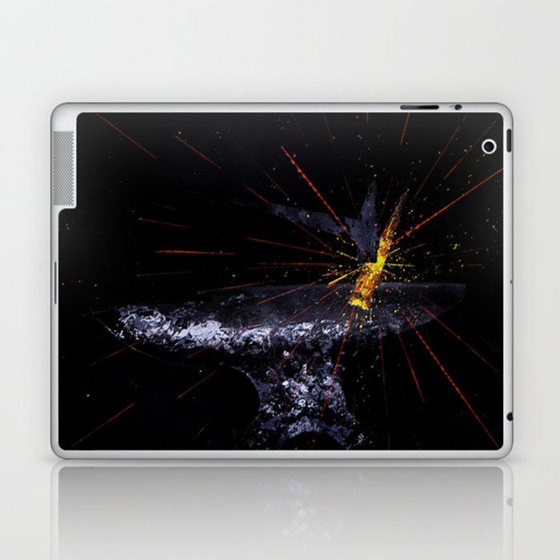 Blacksmith Forge Anvil Fire Laptop & iPad Skin