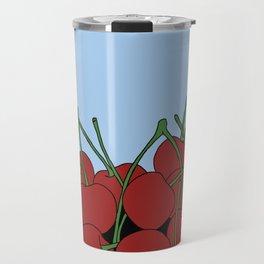 Cherries in a Bowl (Black Ring) Travel Mug