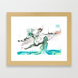 Acending Aquarius Framed Art Print