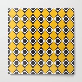 Geometric Pattern #127 (orange diamond circles) Metal Print