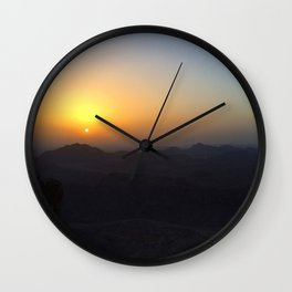 The Sunrise at Moses mountain. Wall Clock