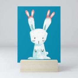 Four Eared Bunny Mini Art Print