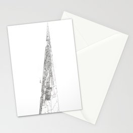 The tower of Disaster Stationery Cards