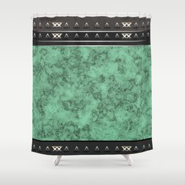 Marble . green marble pattern . Shower Curtain