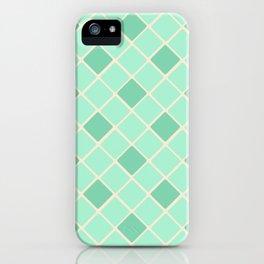 Mint Green Diamonds iPhone Case