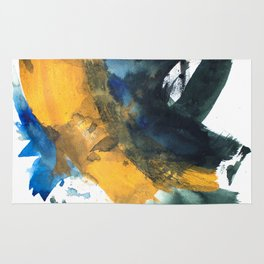 Never Too Late Abstract Painting Rug