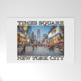 Times Square Sparkle (with typography) Welcome Mat