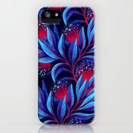 Pohutukawa - Red / Blue iPhone Case