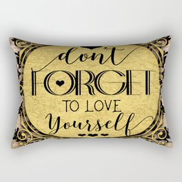 Don't Forget to Love Yourself Marble Swirl Rectangular Pillow