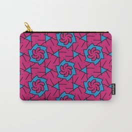 Patterns: Pink Blue Flowers Carry-All Pouch