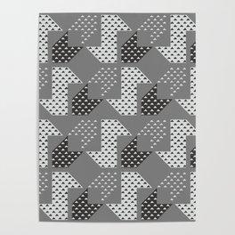 Clover&Nessie Gray/LightGray Poster