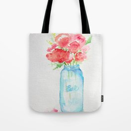 Ball Jar - Watercolor  Tote Bag