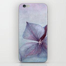 BLUE HYDRANGEA PETAL iPhone Skin