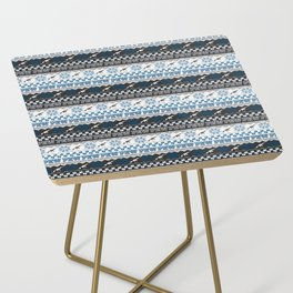 Pew Pew Gun Ugly Christmas Sweater Pattern Side Table