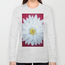 Daisy on Crimson Long Sleeve T-shirt