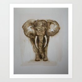 The Bull Elephant by Machale O'Neill Art Print