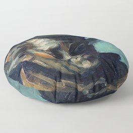 Vincent van Gogh Head of a Peasant Floor Pillow
