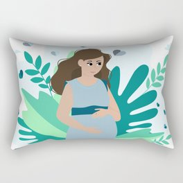 it's a boy! Pregnancy announcement illustration  Rectangular Pillow
