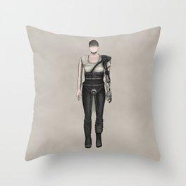 Furiosa without a face (MadMax) Throw Pillow