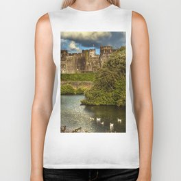 Caerphilly Castle Western Towers Biker Tank
