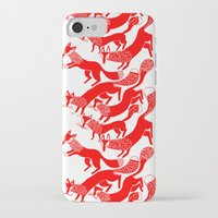 foxes iPhone & iPod Cases featuring FOXES by Riku Ounaslehto