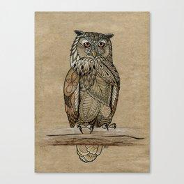 Paper Bag Owl Canvas Print