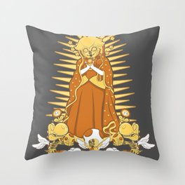 Holy Peach Day of the Dead Tribute Throw Pillow