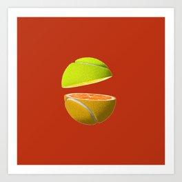 Orange tennis ball Art Print