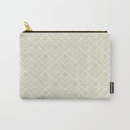 Summer in Paris - Classic Soft Green Geometric Minimalism Carry-All Pouch
