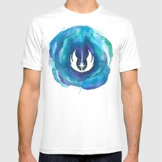 Star Wars Jedi Watercolor Mens Fitted Tee White SMALL