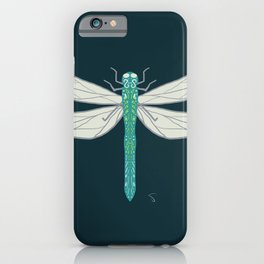 Funky Firefly Blue iPhone Case