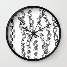 B&W Chain Game  Wall Clock