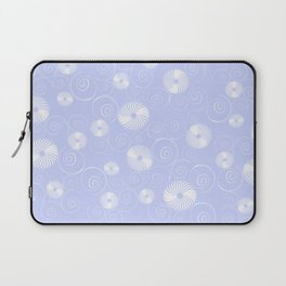 White Spirals Laptop Sleeve