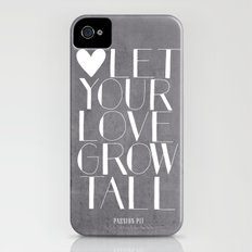 Let Your Love Grow Tall (b&w) iPhone (4, 4s) Slim Case