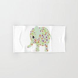 cute floral elephant Hand & Bath Towel
