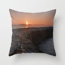 Sunset Over the Cobb III Throw Pillow