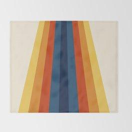 Bright 70's Retro Stripes Throw Blanket