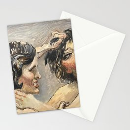 Frenemies - The Contension of Opinion, la Partisan portrait painting by Per Lasson Stationery Cards