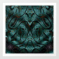 viking Art Prints featuring Viking by RingWaveArt