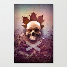Skull and Leaf Canvas Print