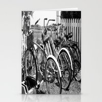 bikes Stationery Cards featuring Bikes  by McKenzie LeFlore
